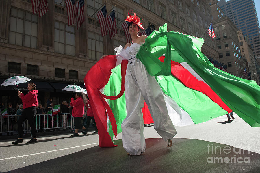Annual Columbus Day Parade Held In New Photograph by Stephanie Keith