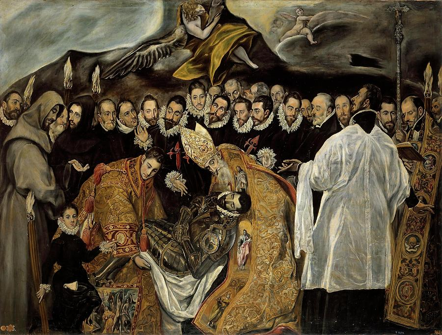 Anonymous -Copy de El Greco- 'The Burial of the Count of ...