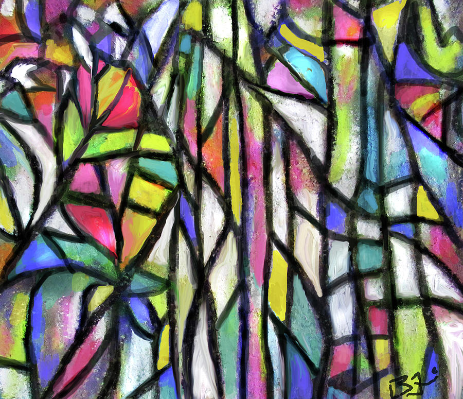Abstract Forest by Jean Batzell Fitzgerald