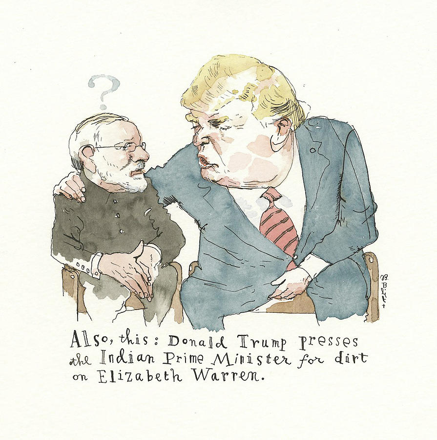 Another Whistle Blown Painting by Barry Blitt