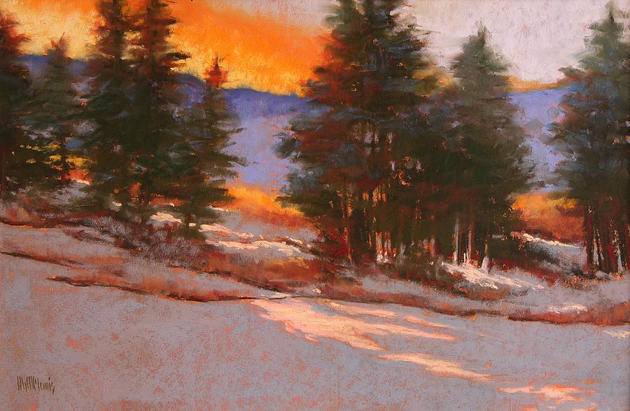 Landscapes Pastel - Another Winter Dawn by Mary McInnis