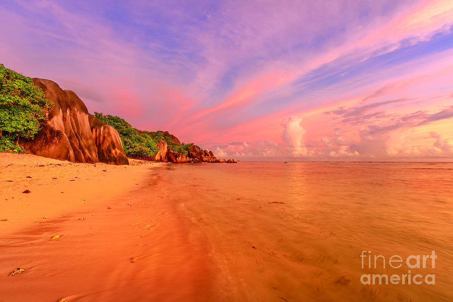 Anse Source dArgent twilight by Benny Marty