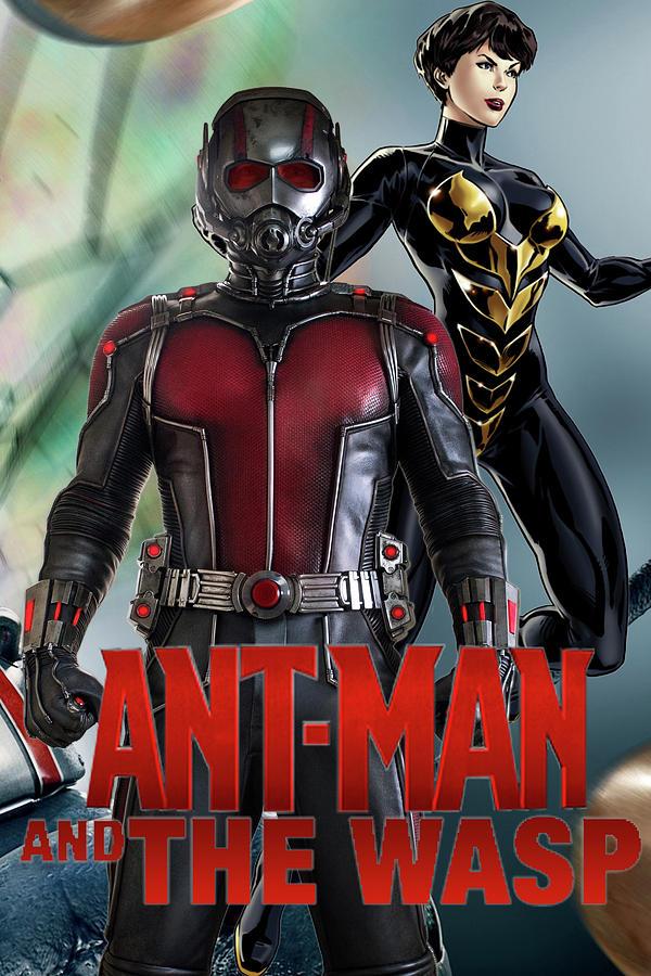 Ant Man Wasp Poster Digital Art By Geek N Rock