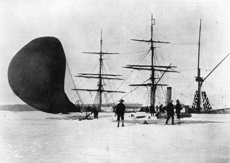 Antarctic Balloon Photograph by Ernest Shackleton