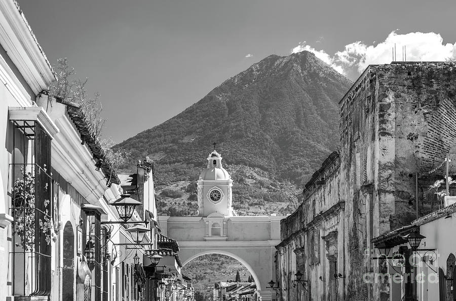 Antigua Guatemala Black and White by Tim Hester