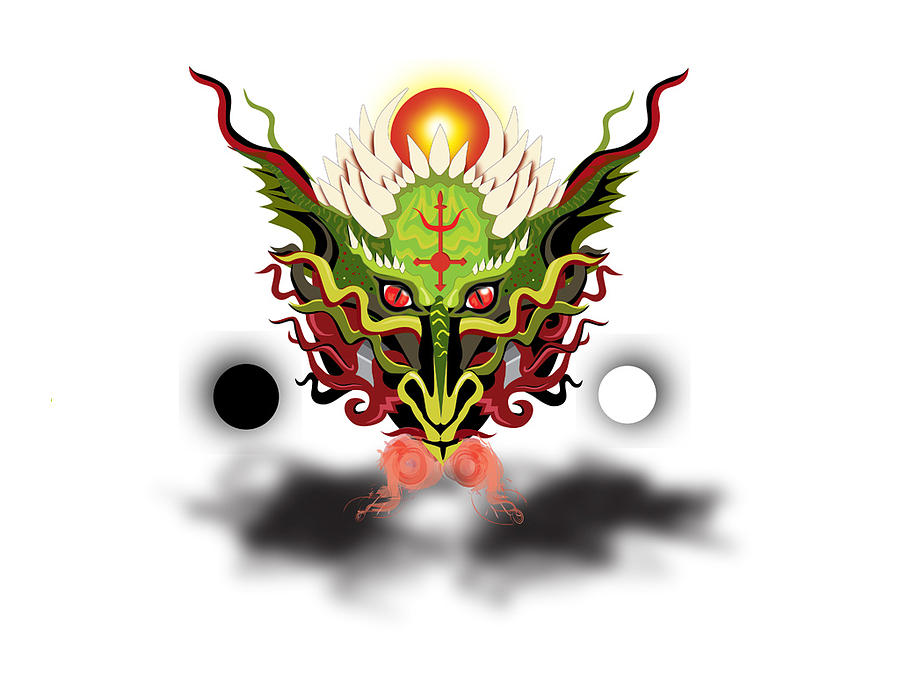 Dragon Digital Art - Antimony by Jesse Chaidez