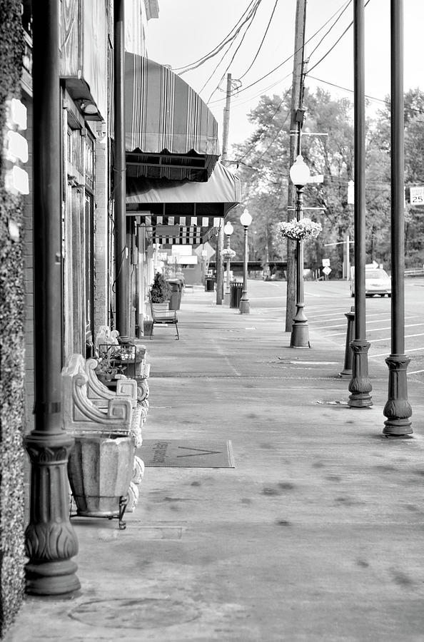 Black And White Photograph - Antique Alley in Black and White by Ester McGuire