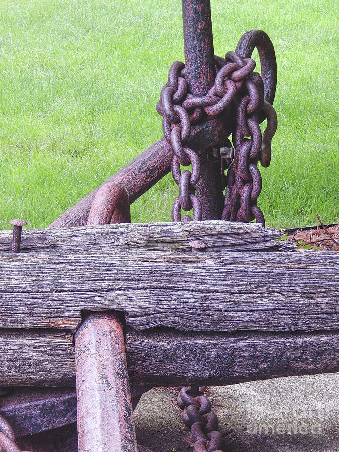 University Of Michigan Photograph - Antique Anchor by Phil Perkins