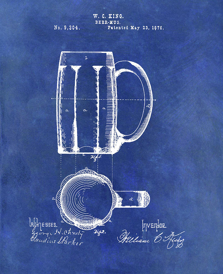 Antique Beer Mug Design Drawing