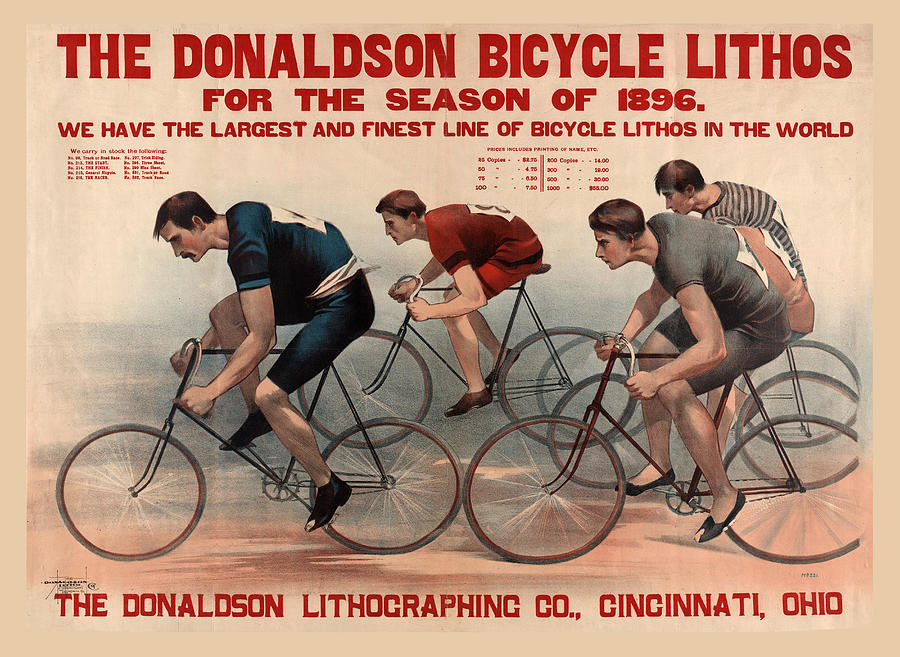 Antique Bicycle Advertising Poster by Carlos Diaz