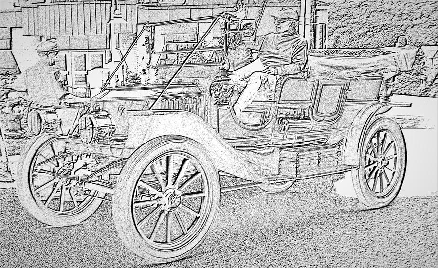 Antique Car 1 by Charles HALL