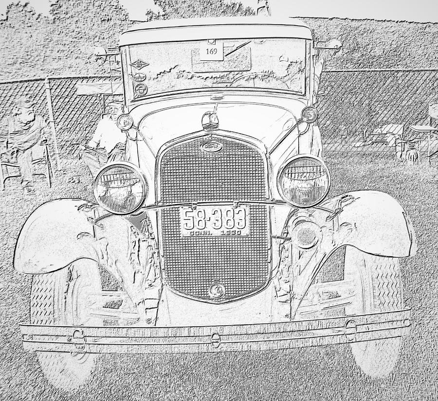 Antique Car 2 by Charles HALL