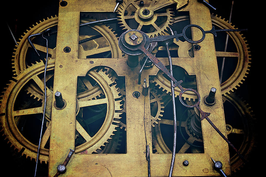 Antique Clock Gears, Cog And Parts Photograph by Melissa Ross