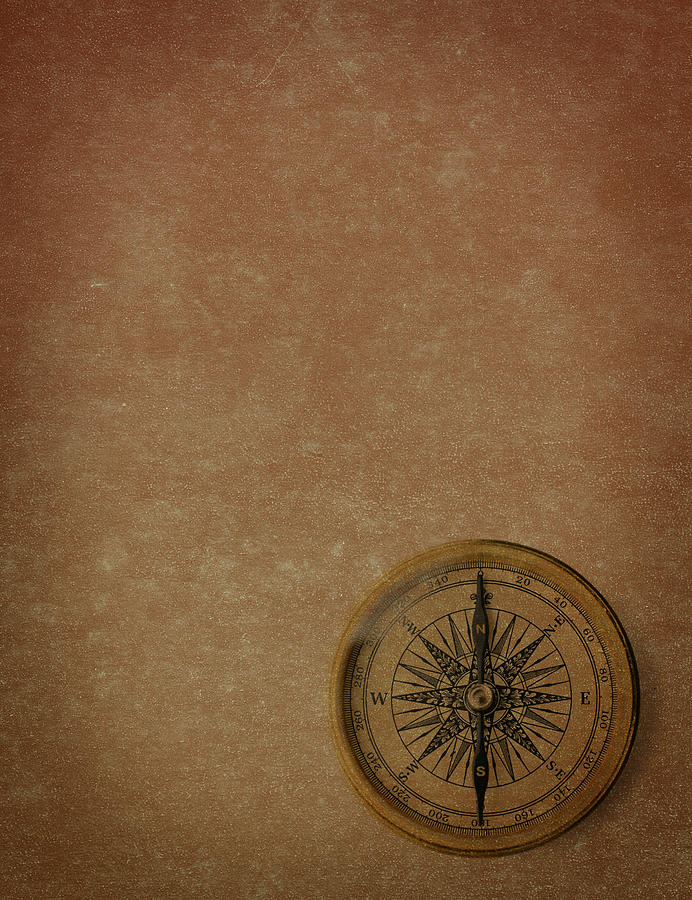 Antique Compass Photograph by Blackred