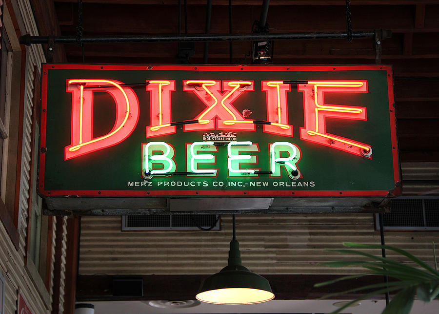 Antique Dixie Beer Neon Sign by Debi Dalio