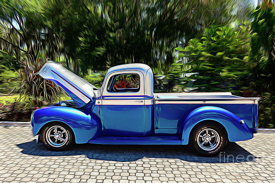 Antique Ford Pickup Truck by Carlos Diaz