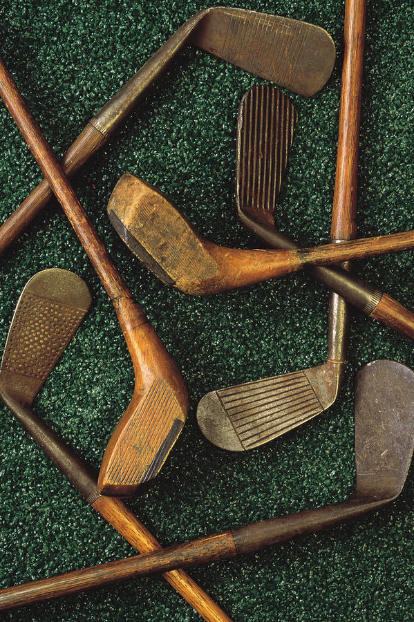 Antique Golf Clubs Photograph by Comstock