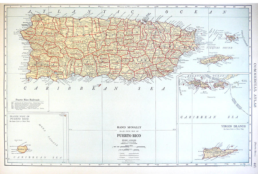 Antique Map Of East Coast Island - Old Cartographic Map - Antique Maps
