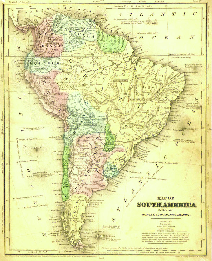 Antique Map Of South America - Old Cartographic Map - Antique Maps on tahiti map pacific, world war ii pacific, world map pacific, garbage island pacific, silestone pacific, war in pacific,