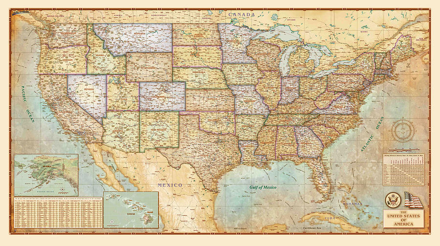 Antique Map Of The United States Of America - Old Cartographic Map on old maps of greenland, old maps of nepal, old maps of the bahamas, old maps of the netherlands, old maps of slovakia, old maps of the midwest, old maps of the southwest, old maps of bolivia, old maps of albania, old us map, antique map united states, old maps of the american revolution, old maps of latin america, vintage wall map united states, old maps of the east coast, old maps of azerbaijan, old maps of guam, old maps of the americas, native american tribes map united states, old united states of america,