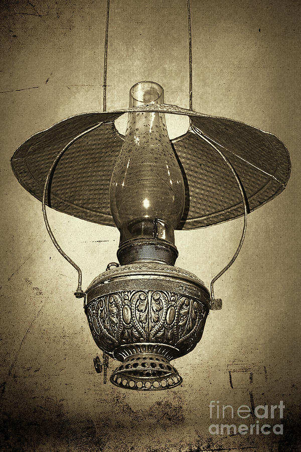 Antique Oil Lantern by Kaye Menner by Kaye Menner