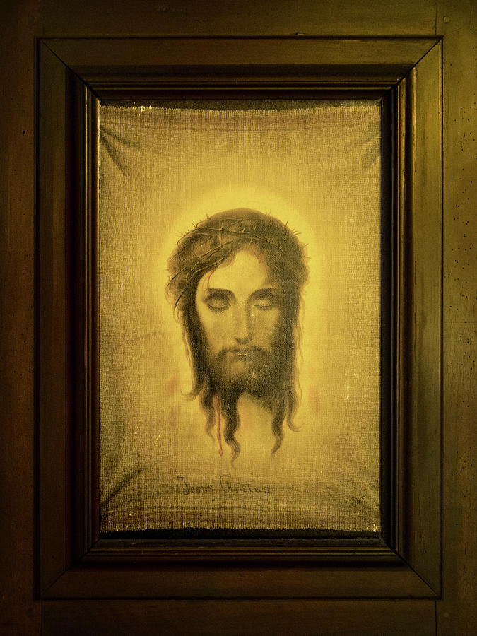 Antique portrait of Christ in Carmel Mission by RicardMN Photography