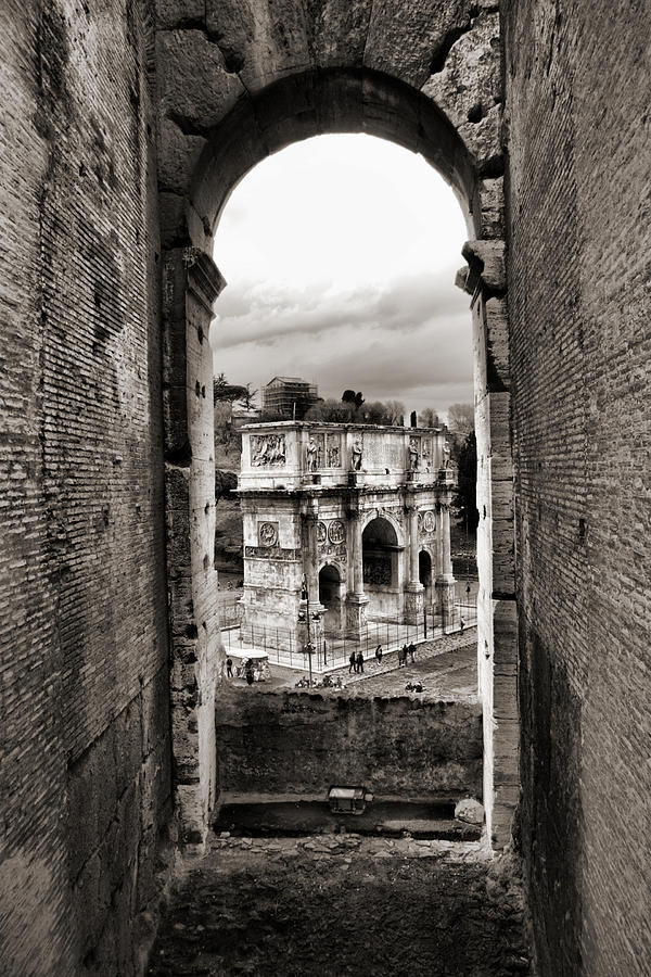 Antique Rome Bw Photograph by Nicoolay