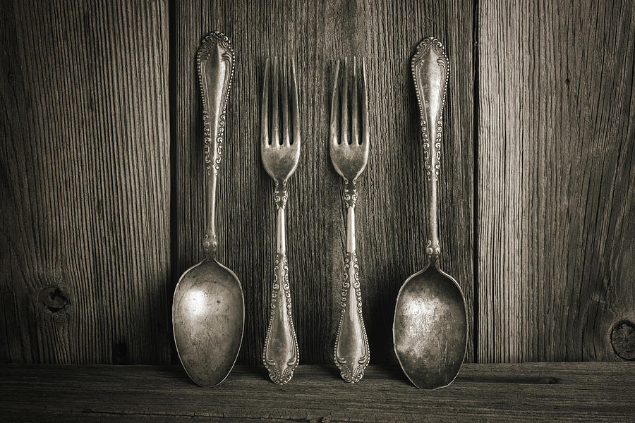 Antique Silver Tableware by Tom Mc Nemar