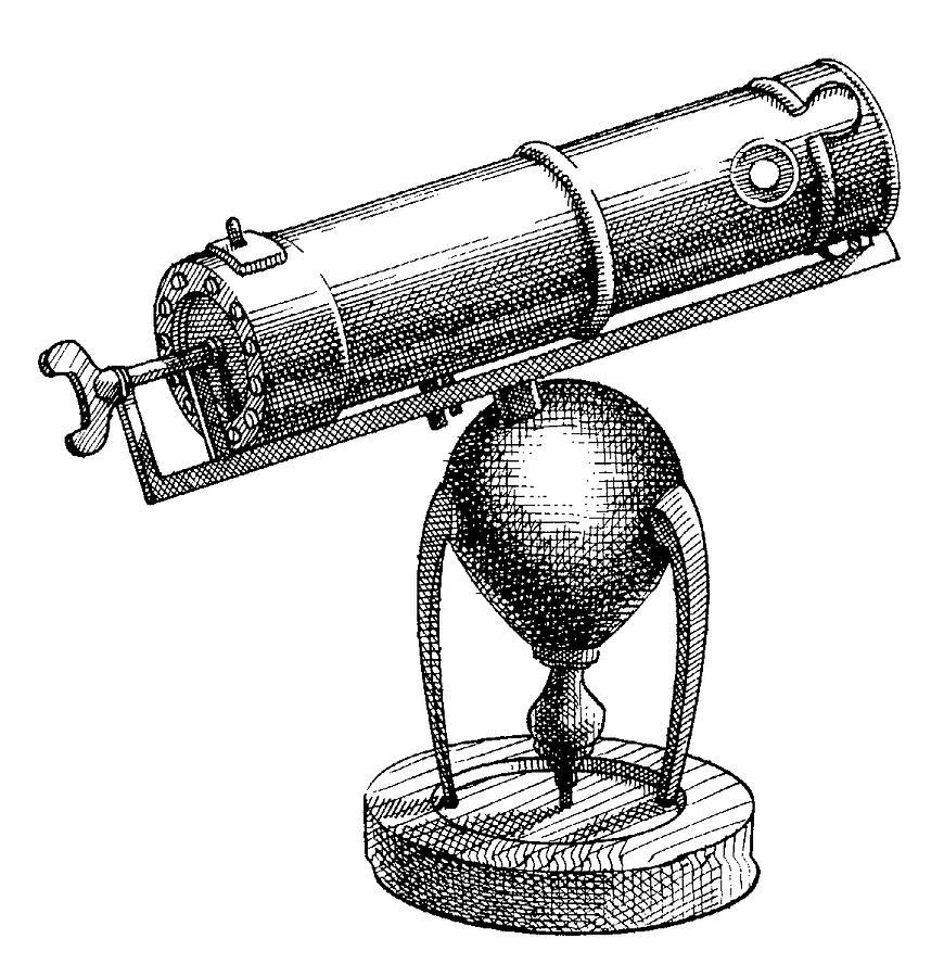 Antique Telescope Drawing
