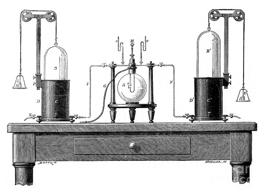 Antoine Lavoisiers Apparatus Drawing by Print Collector