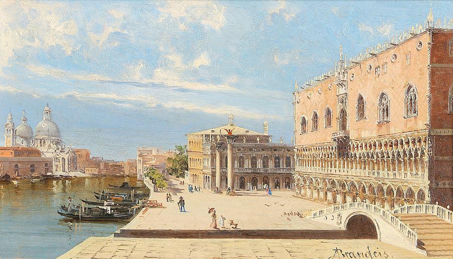 Antonietta Brandeis Myslkovice 1849-1910 Venice  Venedig - Il Palazzo Ducale Painting