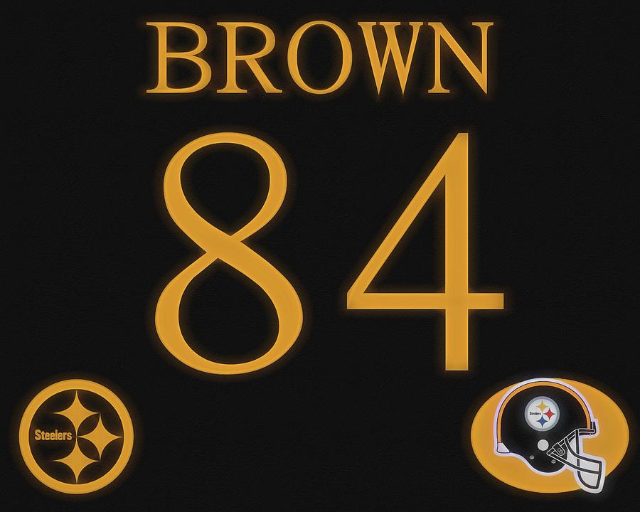 ab638af23 Antonio Brown Jersey Mixed Media by Dan Sproul