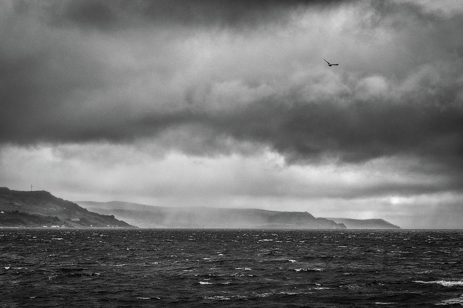 Antrim Coast Squall by Nigel R Bell