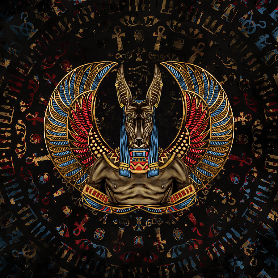 Anubis - Egyptian God by Lioudmila Perry