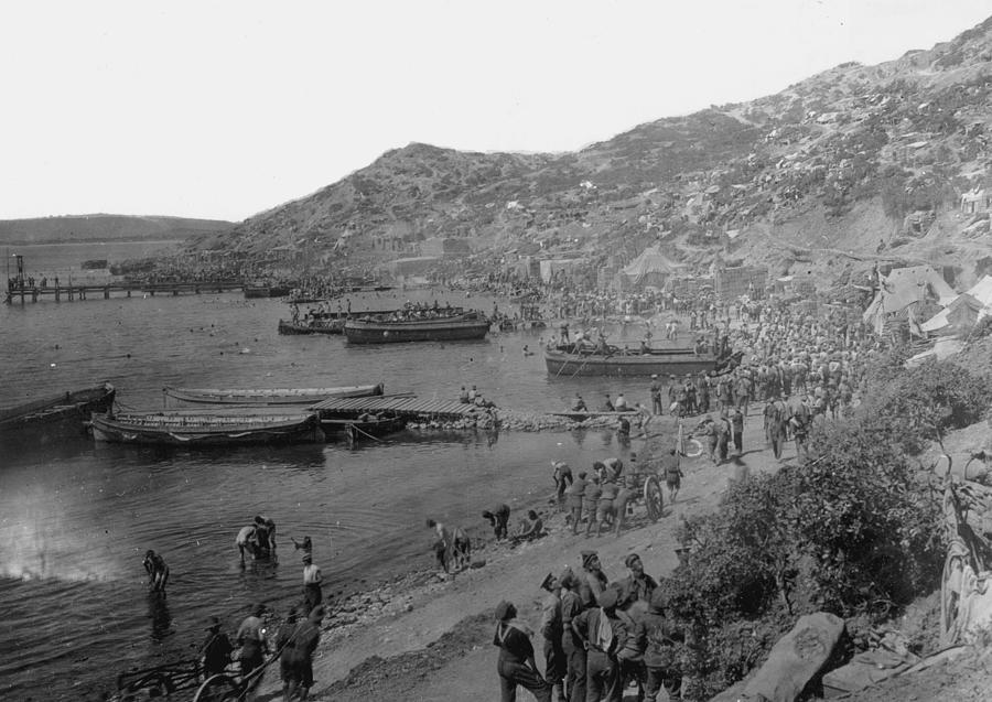 Anzac Cove Photograph by Hulton Archive