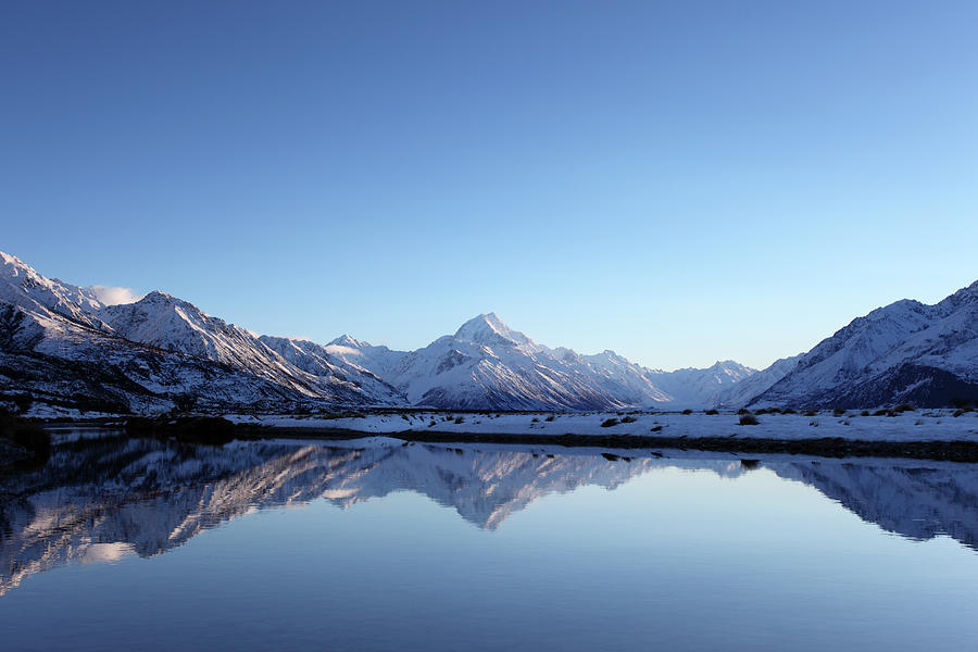 Aoraki Mt Cook Reflections Photograph by Alkalyne