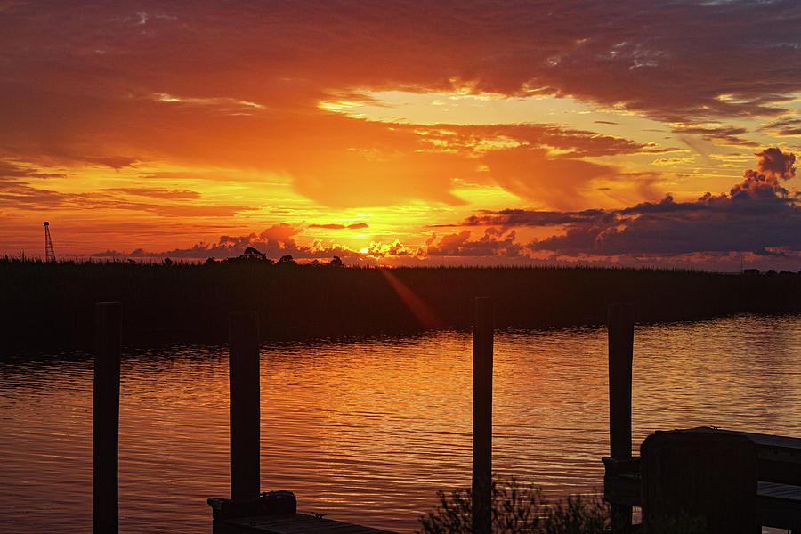Sunrise Photograph - Apalatchicola Sunrise by Randy Bayne