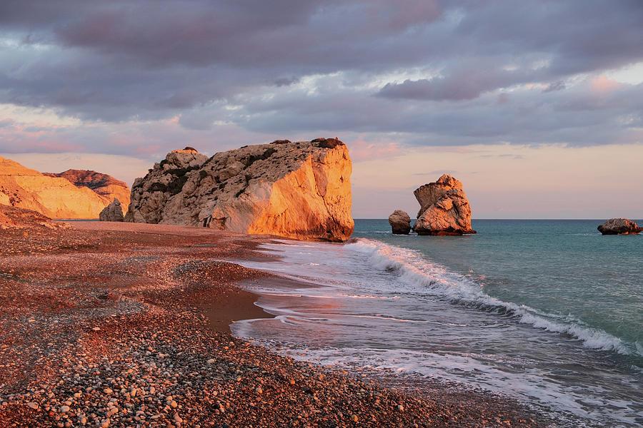 Aphrodite Photograph - Aphrodites Birthplace Or Petra Tou Romiou In Cyprus 2 by Iordanis Pallikaras