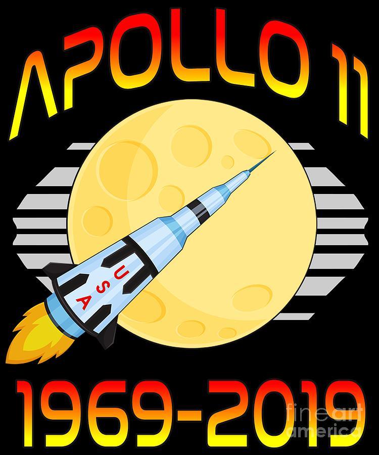 Apollo 11 50th Anniversary Retro Moon Landing by Flippin Sweet Gear