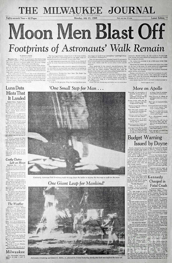Apollo 11 Newspaper Coverage by Kevin McCarthy