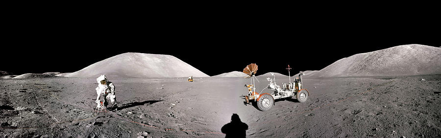 Apollo 17 Taurus-Littrow valley the Moon by Andy Myatt