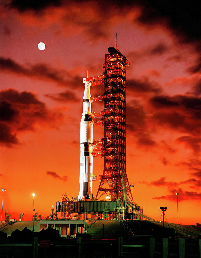 ab9b7b76f Apollo 4 On The Launch Pad Photograph by Nasa