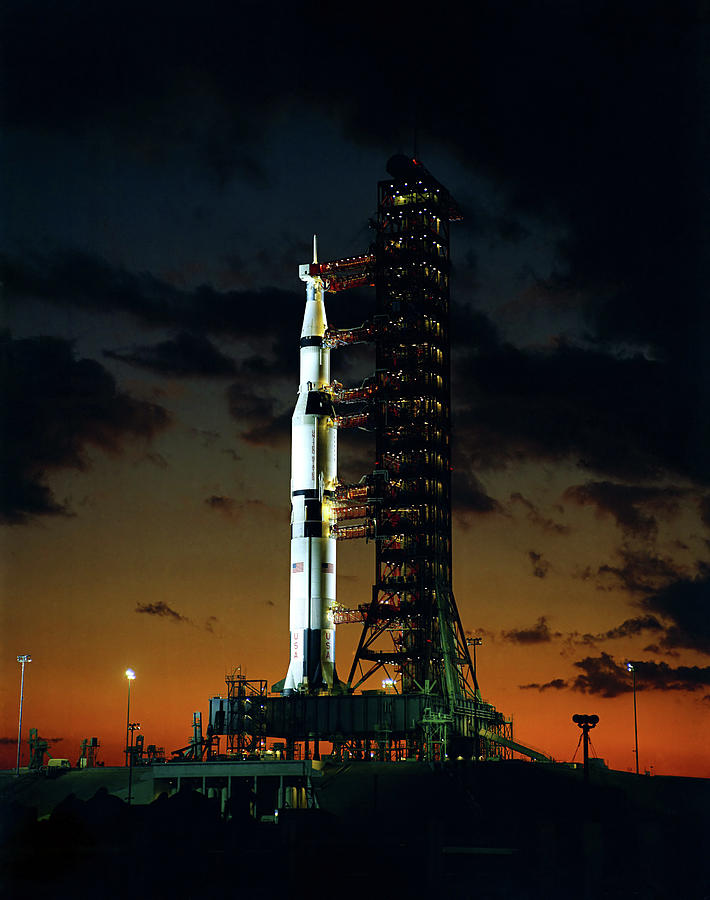 Apollo Photograph - Apollo 4 Saturn V Rocket On Launchpad - 1967 by War Is Hell Store