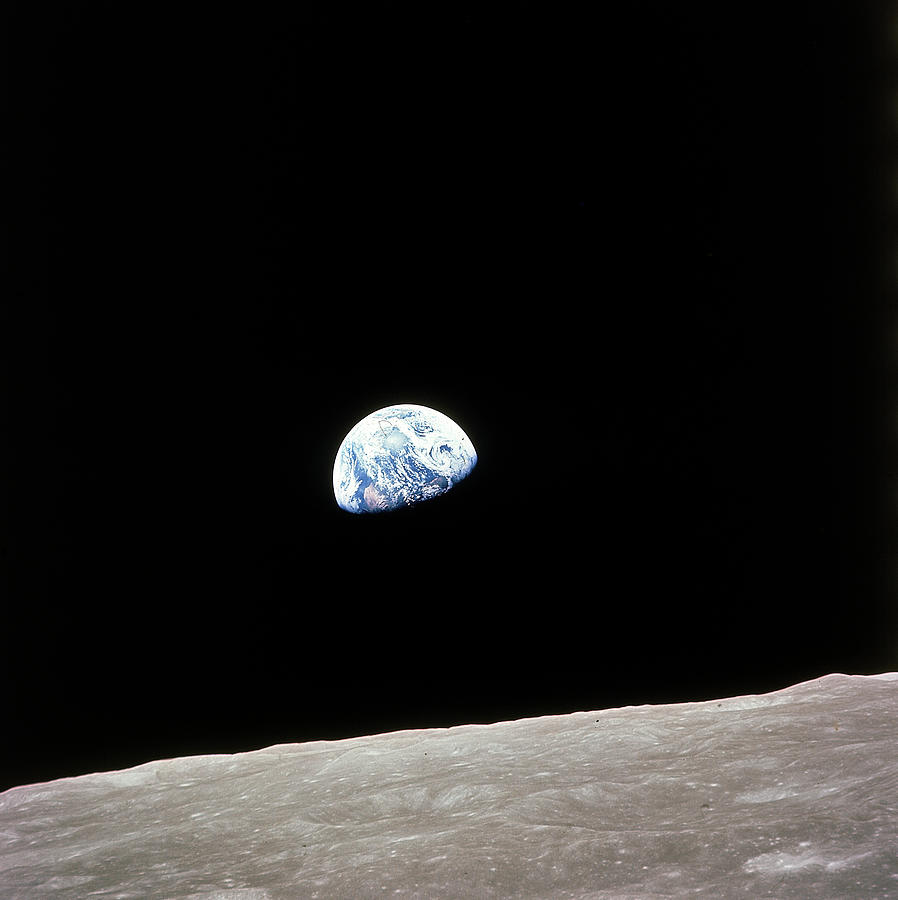 Apollo 8 View Of Earth Rise Over The Moo Photograph by Time Life Pictures