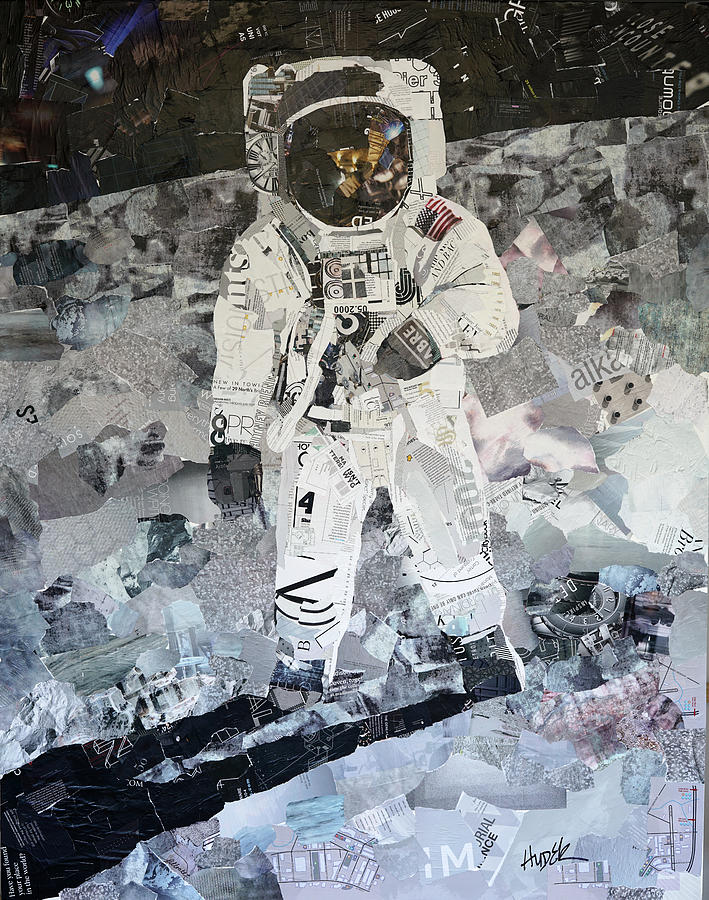 Apollo 11 Mixed Media - Apollo Eleven Moon Walk by James Hudek