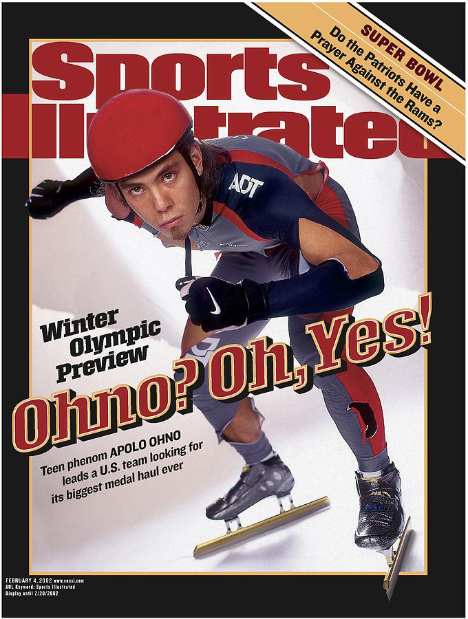 Apolo Anton Ohno Sports Illustrated Cover Photograph by Sports Illustrated