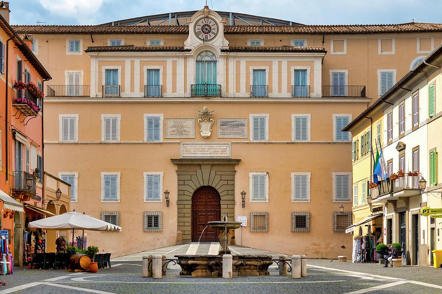 Apostolic Palace in Castel Gandolfo by Fabrizio Troiani