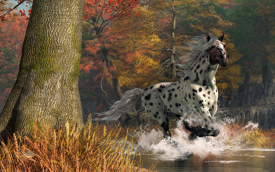 Appaloosa Digital Art - Appaloosa River by Daniel Eskridge