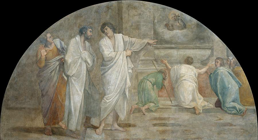 Apparition Painting - Apparition Of Saint Didacus Above His Sepulchre  by Annibale Carracci