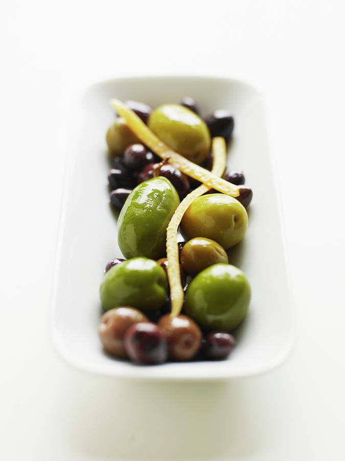 Appetizer Of Warm Marinated Olives Photograph by Thomas Barwick